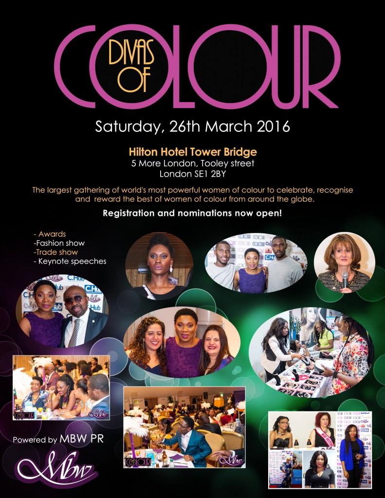 Divas of colour 2016 nomination flyer