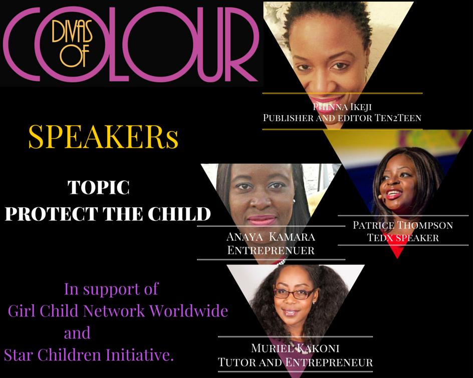 Divas of colour conference speakers .