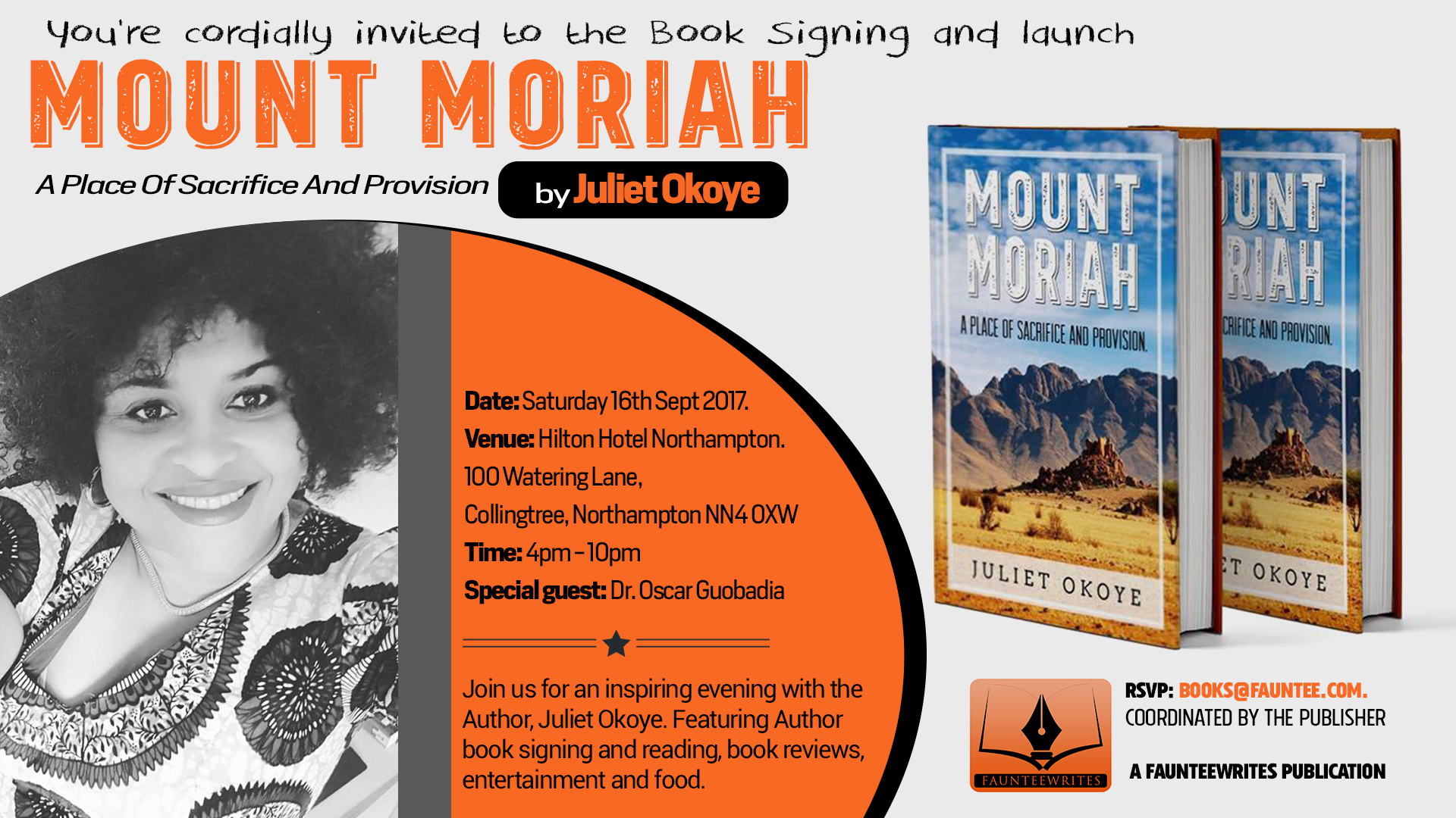 Juliet Okoye Mount Moriah Book launch
